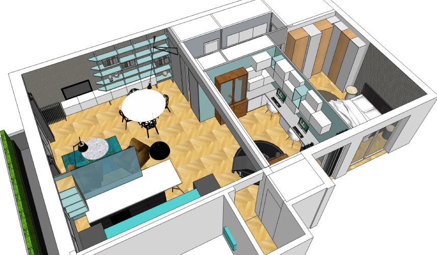 Architecte d 39 int rieur paris architecture appartement Carrelage annee 70