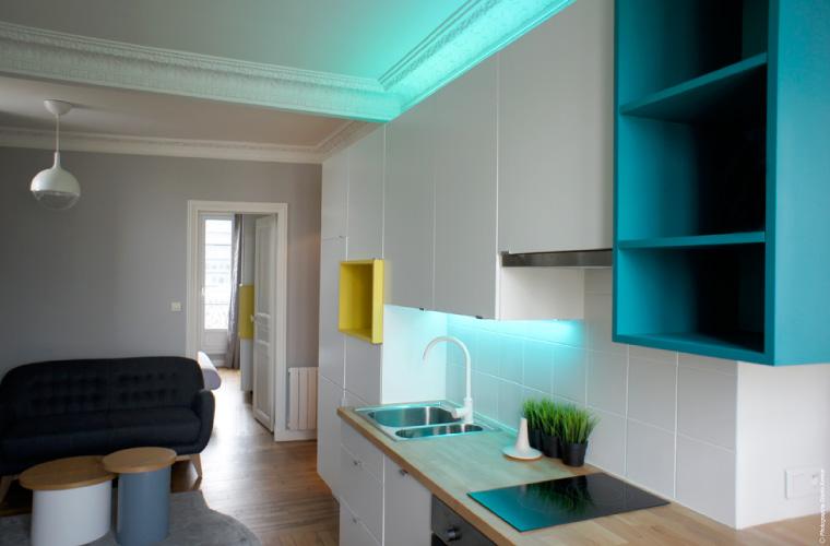 Architecte d 39 int rieur paris un petit appartement - Architecte interieur paris petite surface ...
